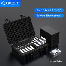 ORICO 20 Bay 3.5 inch Hard Drive Protection Case with Water proof Dust proof Shock proof HDD Storage and Protection