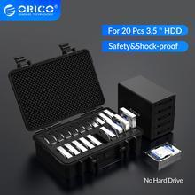 ORICO 20 Bay 3,5 zoll Festplatte Schutz Fall mit Wasser beweis Staub proof Shock proof HDD lagerung und Schutz