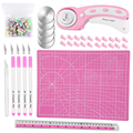 Nonvor Rotary Cutter Tools Set With Cutting Mat Blades Patchwork Ruler Carving knife Quilting Leather Sewing Kit Positioning pin