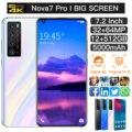 Nova 7 Pro 7,2 дюймов HD Большой Экран смартфон 5000 мАч 2 Гб Оперативная память 16 Гб Встроенная память смартфон разблокированый мобильный телефон с ...