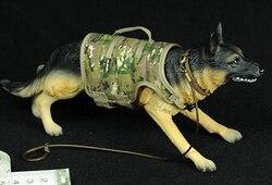1/6 skala owczarek niemiecki Model policji pies głowy ruchome dla 12in Phicen HOTTOY figurka zabawka scena