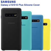 SAMSUNG Original Silicone Case Phone Cover for Galaxy S10 S10X S10+ S10Plus SM-G9750 S10 X S10E Soft Phone Cace Shockproof Cover