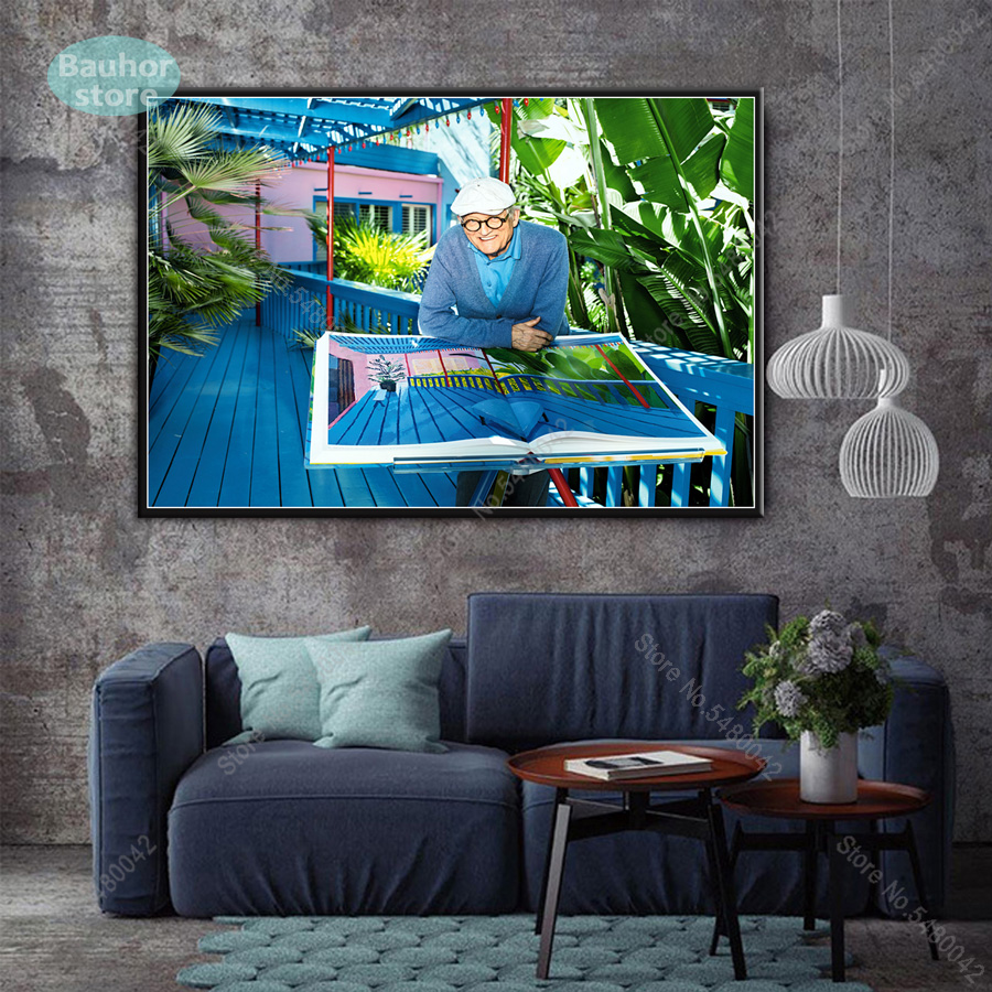 "David Hockney Pool Canvas Wall Art /""20x30/"" on offer"