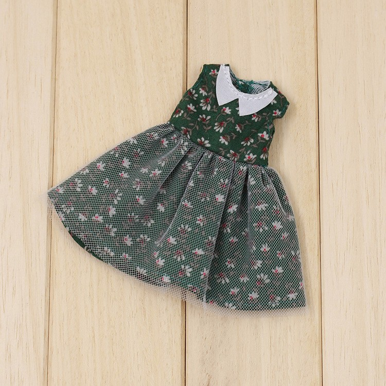 Middie Blythe Doll Green Floral Dress 2