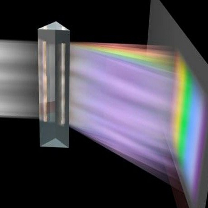 Prisme triangulaire BK7 prismes optiques verre physique enseignement spectre de lumière réfractée enfants étudiants présents 25x25x80mm ^ 1