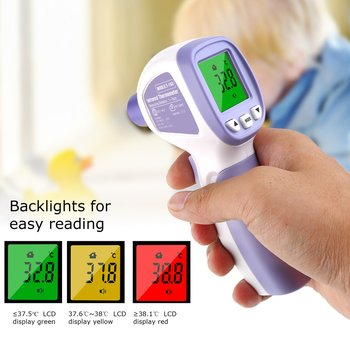 Digital Infrared LCD Thermometer Gun Body Temperature Measuring Forehead Ear Non-Contact Adult Body IR Children Thermometer baby digital thermometer ir infrared thermometer non contact forehead body surface temperature instruments data hold function