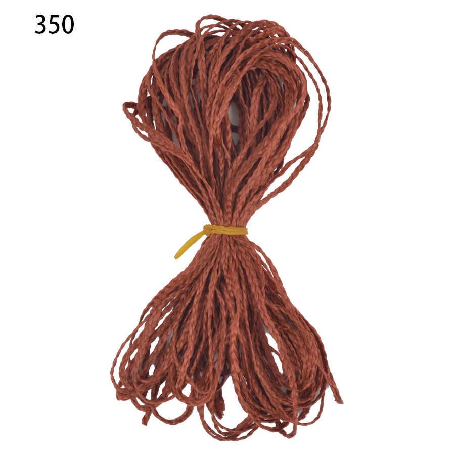 יוניס זיזי צמות ארוך תיבת צמות סינטטי סרוגה צמת שיער הרחבות סגול ורוד סרוג קולעת שיער זיזי צמת שיער