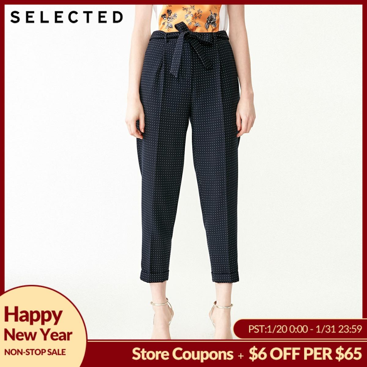 SELECTED Women's Spring Polka Dots Business-casual Crop Suit Pants SIG|419118506