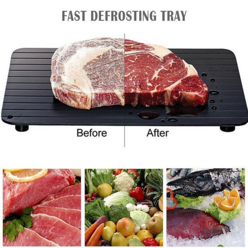 Domestic Defrost Tray Kitchen Tool Durable Alloy Defrosting Tray Practical No Need For Electricity High Capacity Tray N
