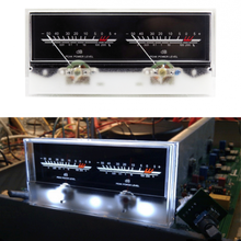 Double pointer VU Meter Stereo Audio Amplifier Board DB Sound Level Indicator Adjustable Backlight With Driver