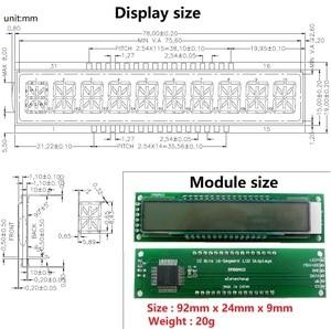 Image 4 - 2x10 الرقمية 16Seg أبجدية TM1622 HT1622 SPI شاشة عرض ليد إل سي دي DM8BA10 لاردوينو التوت بي