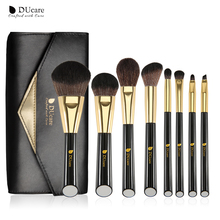 DUcare 8 PCS White /Black Makeup Brushes professional brush