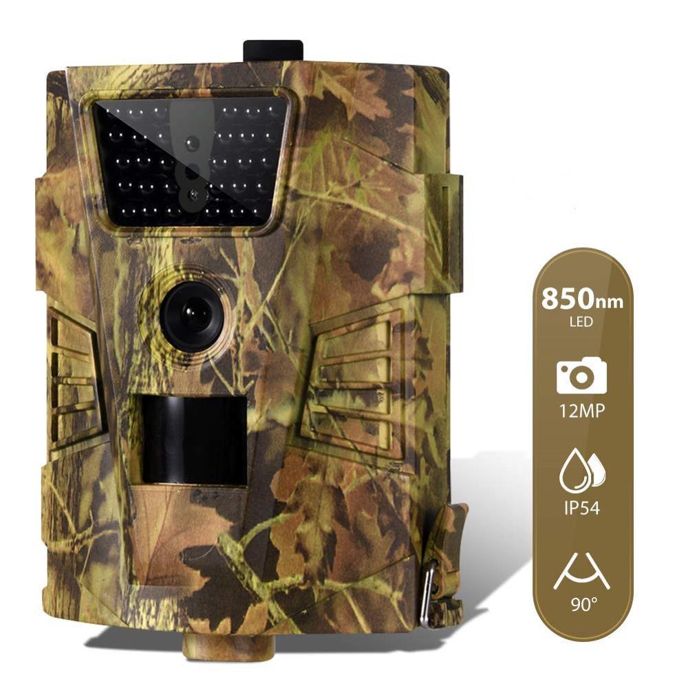 12MP 1080P telecamera da caccia da pista telecamera di sorveglianza selvaggia HT001B versione notturna telecamere per scoutismo della fauna selvatica foto trappole traccia