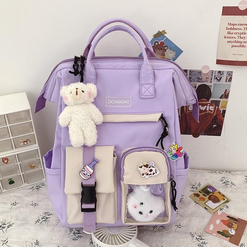 Kawaii Preppy Bear Backpack 1