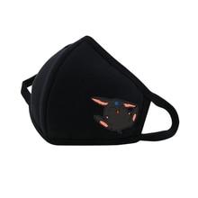 Anime Card Captor Mouth Face Mask DustpRespirator Fashion Black Face mask Cute Printed Women man Cotton Mask