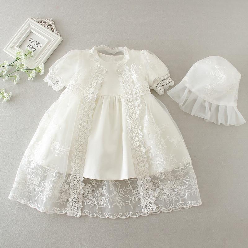 Baby Baptismal Set Christening Gown Lace Cape Bonnet Hat For Newborn Baby Shower Outfits Long Dress Vestido Bebe Baptism Gown|Dresses|Mother & Kids - title=