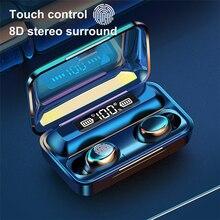 Lovebay sans fil écouteurs F9 5 TWS Bluetooth 5.0 LED affichage 8D basse stéréo dans loreille écouteurs mains libres Hifi casque casque