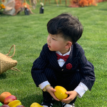 Boys Striped Suit 4-piece Birthday Dress Wedding Flowers boys little boy Costume Terno kids 1-4 year