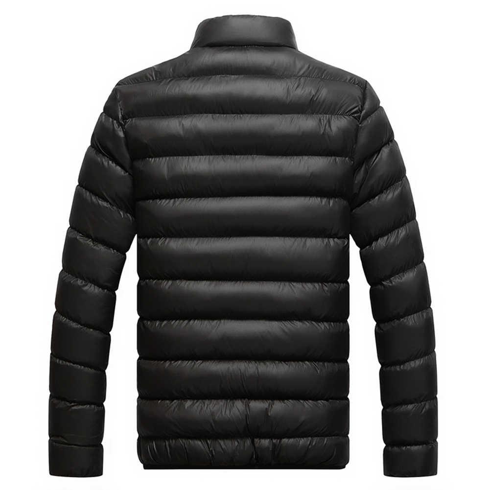 ฤดูหนาวชายเสื้อใหม่ 2019 ผ้าฝ้ายซับหนา Parka ติดตั้งแขนยาว Quilted outerwear เสื้อผ้า WARM Coat
