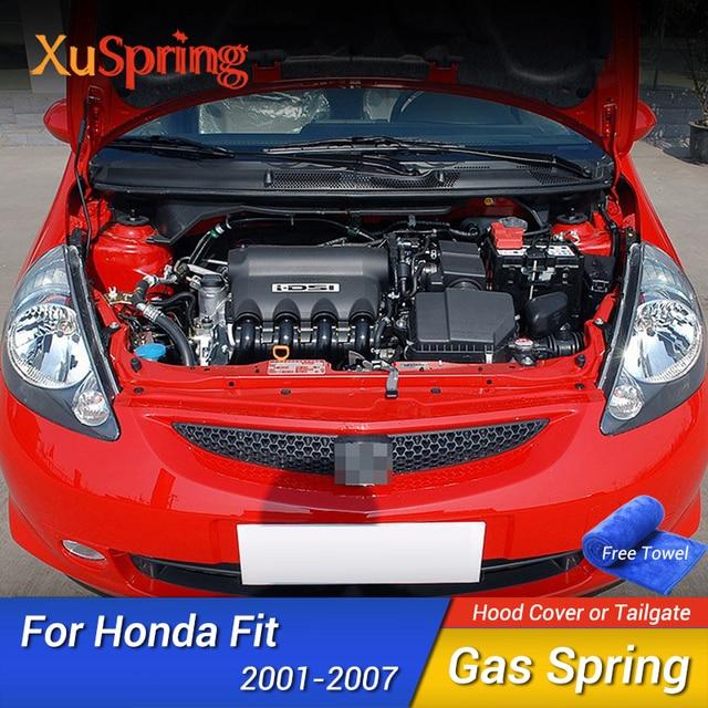 Auto Motorhaube Haube Gas Strut Lift Frühling Schock Halterung Unterstützung Stange Bars kit Für Honda Fit Jazz 2001 2002 2003 2004 2005 2006 2007