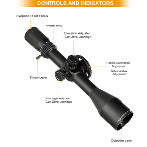 Image 2 - ohhunt LR 7.25 40X50 SFIR Hunting Scope Glass Etched Reticle Red Illumination Side Parallax Turret Lock Reset Riflescope
