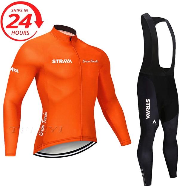 2020 STRAVA longo Ciclismo manga Conjunto camisa calças jardineiras ropa ciclismo roupas MTB da bicicleta da bicicleta de manga Curta camisa dos homens roupas 4