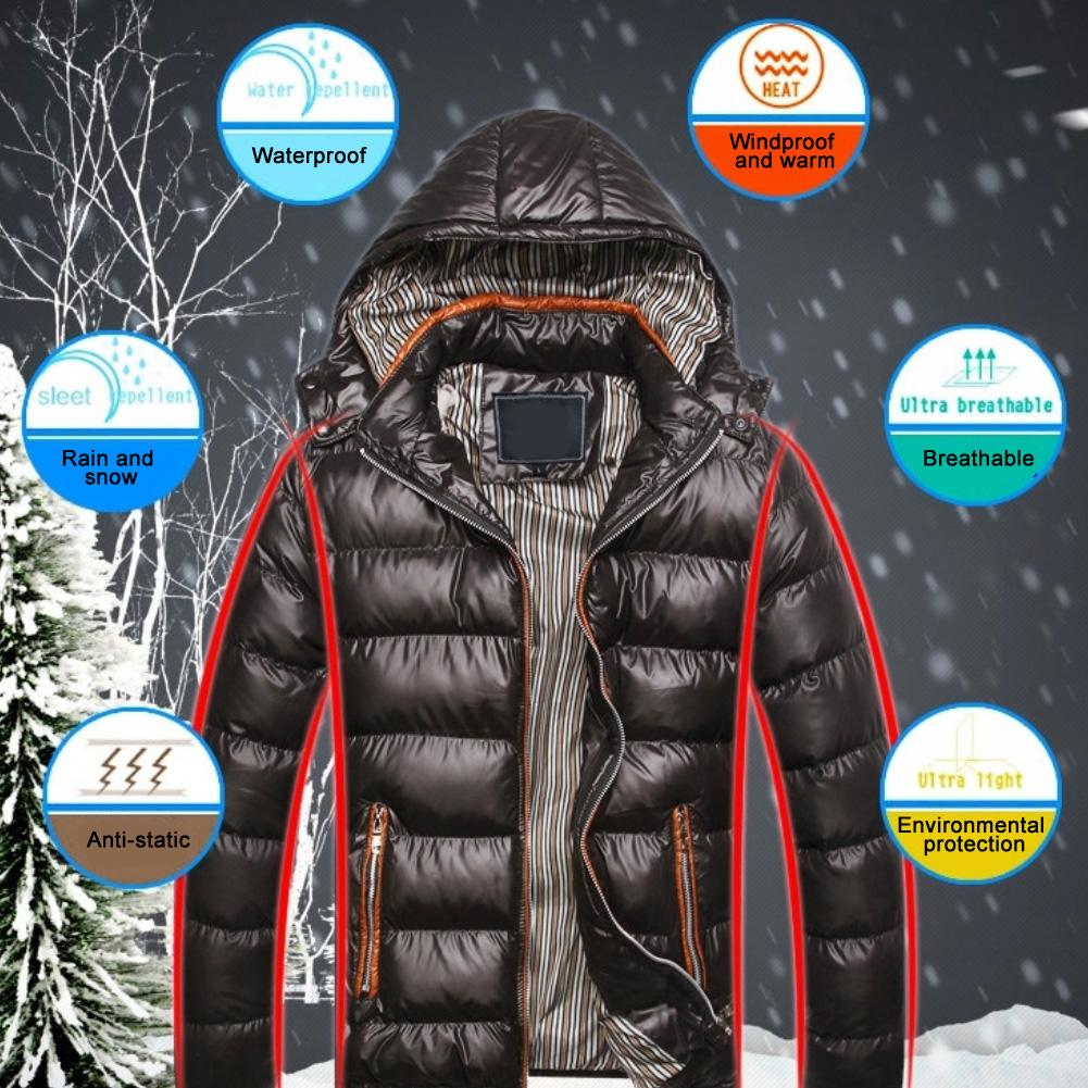 2019 New Men Winter Version Of The Stand Hooded Down Jacket Soft Cotton Coat Punk Warm Coat Outdoor Riding