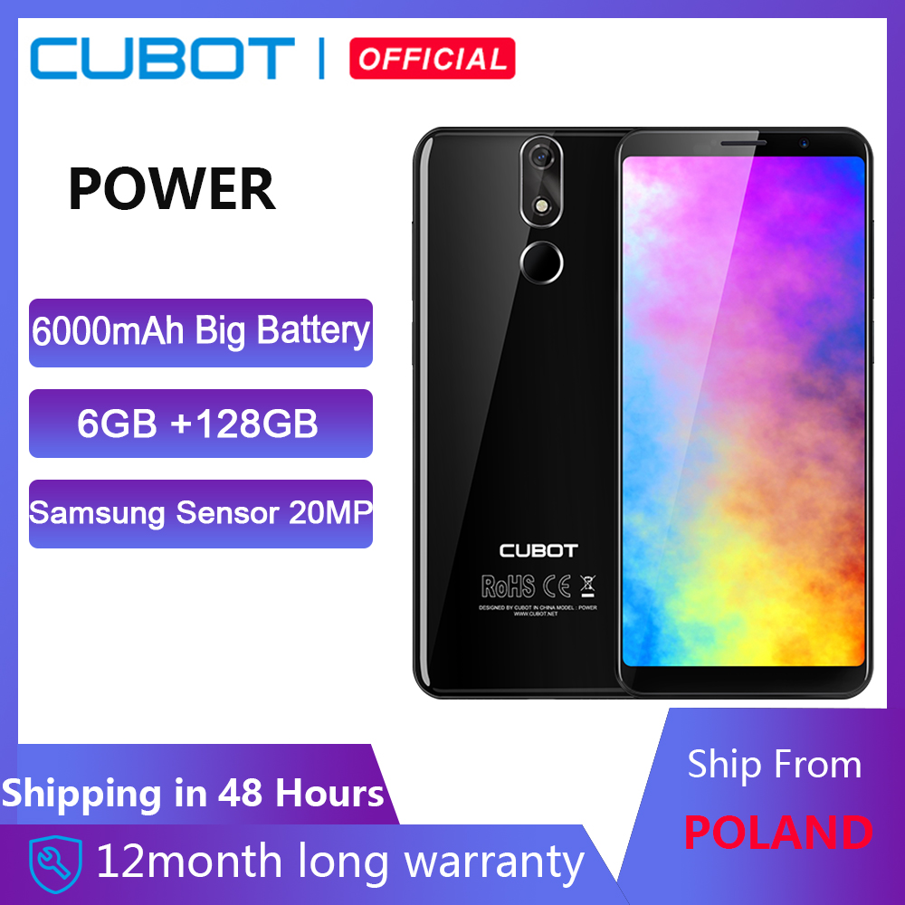 Cubot Power 6000mAh Helio P23 Octa Core 6GB RAM 128GB ROM 5.99 FHD+ Android 8.1 Smartphone 16.0MP 6P lens Telephone Type-C 4G image
