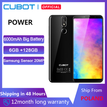 Cubot Power 6000mAh Helio P23 Octa Core 6GB RAM 128GB ROM 5.