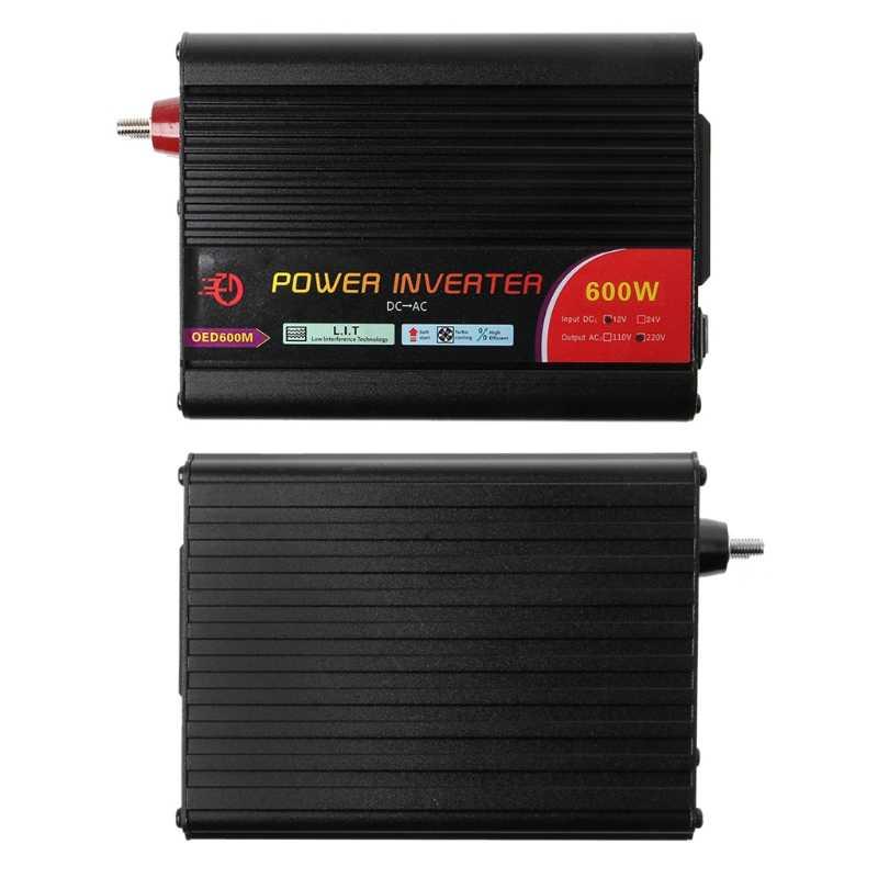 חדש 300 W/400 W/500 W/600 W כוח מהפך ממיר DC 12V כדי 220V AC מכוניות מהפך עם מתאם לרכב זרוק משלוח תמיכה