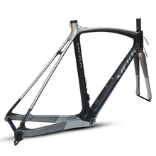 купить Italy Brand 700c Matte Full Carbon Frame Tapered Headset Road Bike Frame with Ultra-light Inner Cable Carbon Bike Fork недорого