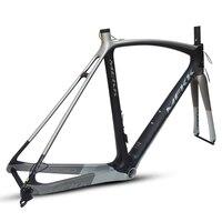 Italy Brand 700c Matte Full Carbon Frame Tapered Headset Road Bike Frame with Ultra light Inner Cable Carbon Bike Fork
