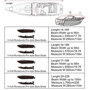 Image 5 - X AUTOHAUX 540/570/700x280/300CM 210D Trailerable סירת כיסוי עמיד למים דיג סקי בס סירת מרוץ V צורת כחול סירת כיסוי