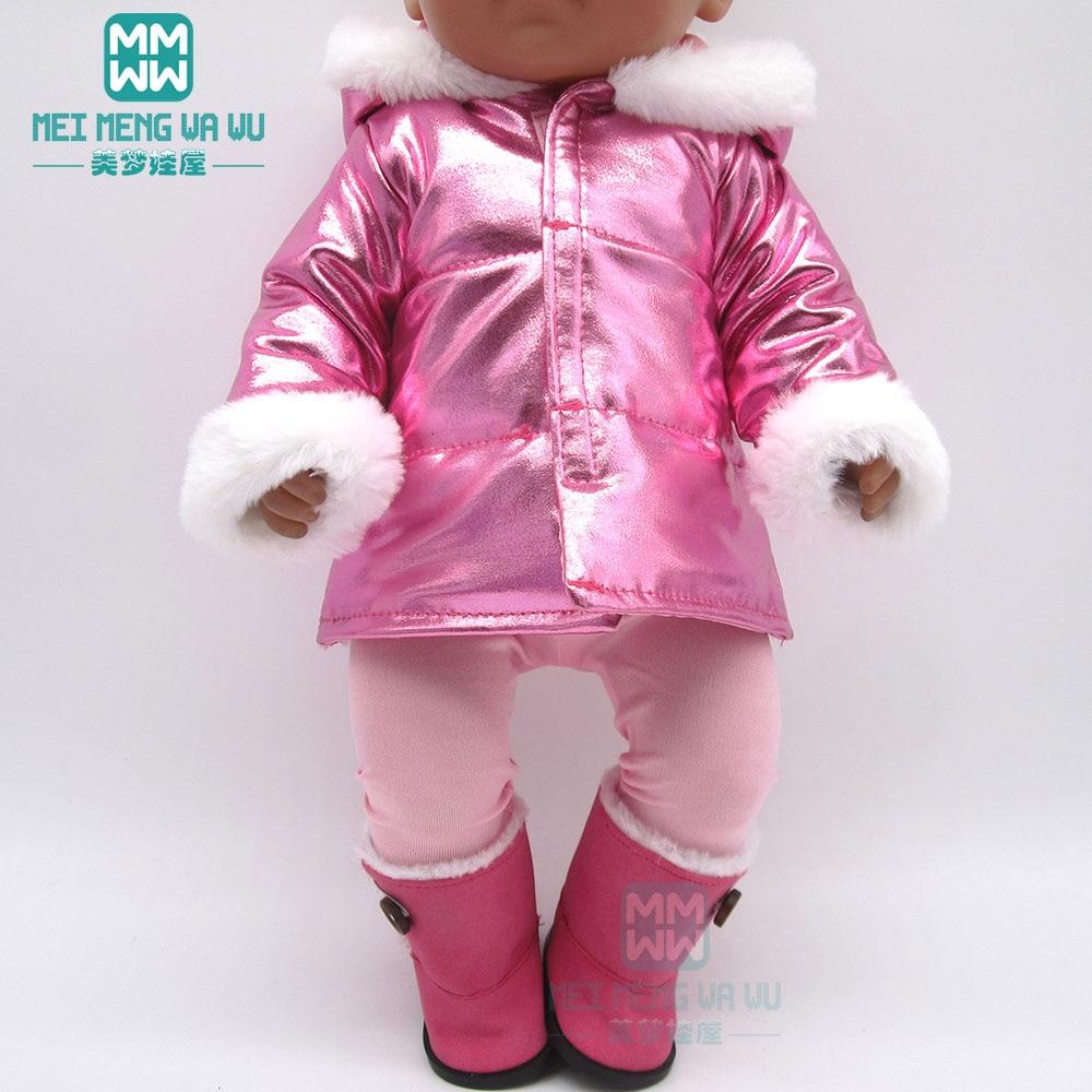 Ubrania dla lalki płaszcz z kołnierzem z futra pasuje 18 cali 43-45cm zabawka dla dziecka noworodki lalka i amerykańska lalka akcesoria