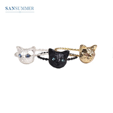 Trendy Lovely Cat Women Rings Cute Animal Minimalist Jewelry Anillos Mujer Fashion Fine For Girls Gifts