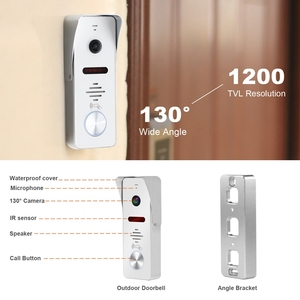 Image 5 - HomeFong 10 inch Video Door Phone Wired Video Intercom for Home Monitor  Doorbell Camera  Support Motion Detection Electric Lock