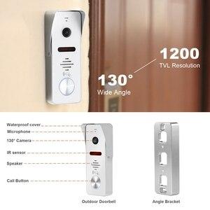 Image 4 - HomeFong görüntülü interkom 10 inç görüntülü kapı telefonu 1200TVL geniş açı kamera Video kapı zili ev interkom erişim kontrol sistemi