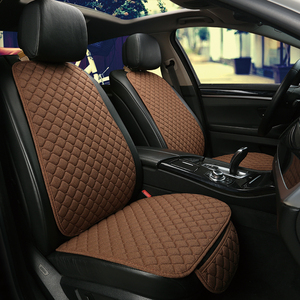 Image 5 - Funda protectora para asiento de coche, almohadilla de lino para asiento delantero o trasero, accesorios adecuados para todos