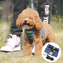 Джинсовый поводок для собак маленький и Средний Поводок из денима