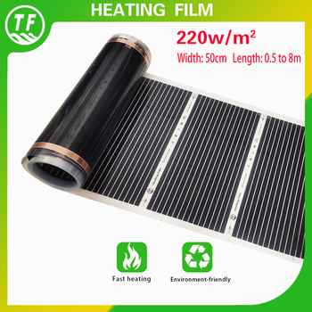 220W/M2 Far-Infrared Electric Floor Heating Film AC220V 50cm Width All Size Warming Mat Suitable for Ceiling Wall - discount item  31% OFF Household Appliances