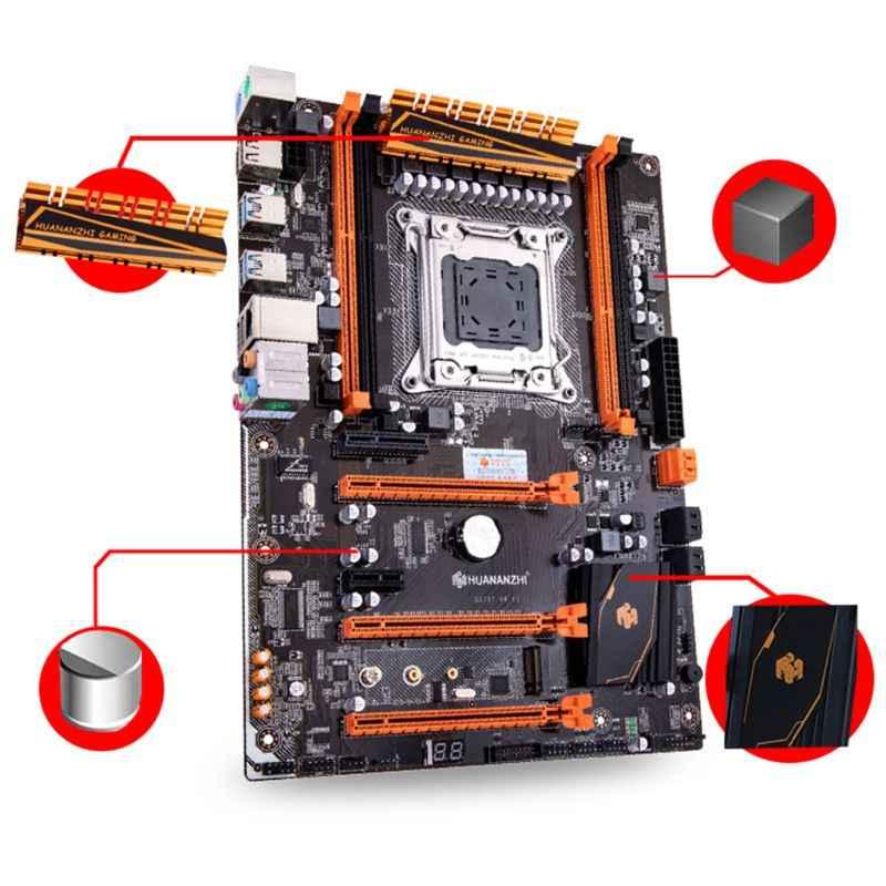 Huananzhi X79 اللوحة LGA 2011 ATX PCI-E NVME M.2 دعم 4x16G REG ECC الذاكرة و زيون E5 المعالج اللوحة الأم