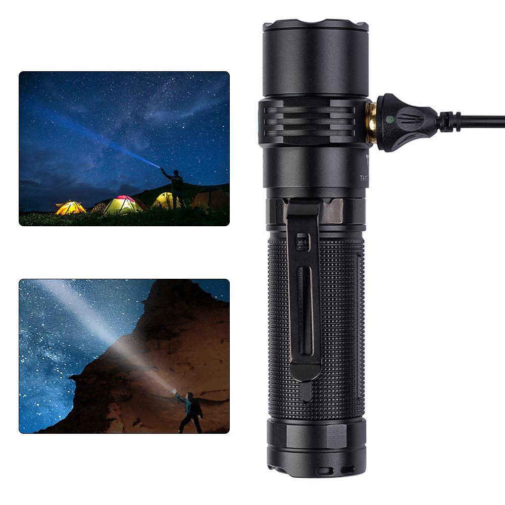 Đèn Pin TrustFire MC3 Từ USB Sạc EDC Đèn Flash 2500 Lumens Đèn Led Cho  Ourdoor Đi Bộ Đường Dài Cắm Trại|LED Flashlights