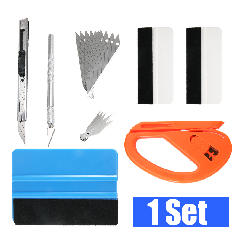 7PCS Auto Sticker Wrapping Tools Cutter Knife Vinyl Car Wrap Carbon Foil Film Magnetic Squeegee Scraper Kit|Car Stickers| |  - title=