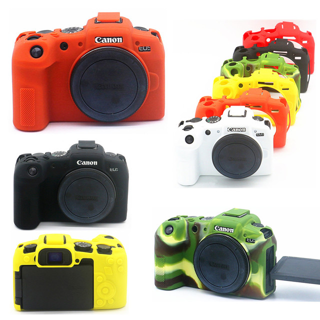 Silicone Armor Skin Case Body Cover Protector for Canon EOS RP Mirrorless Digital Camera ONLY