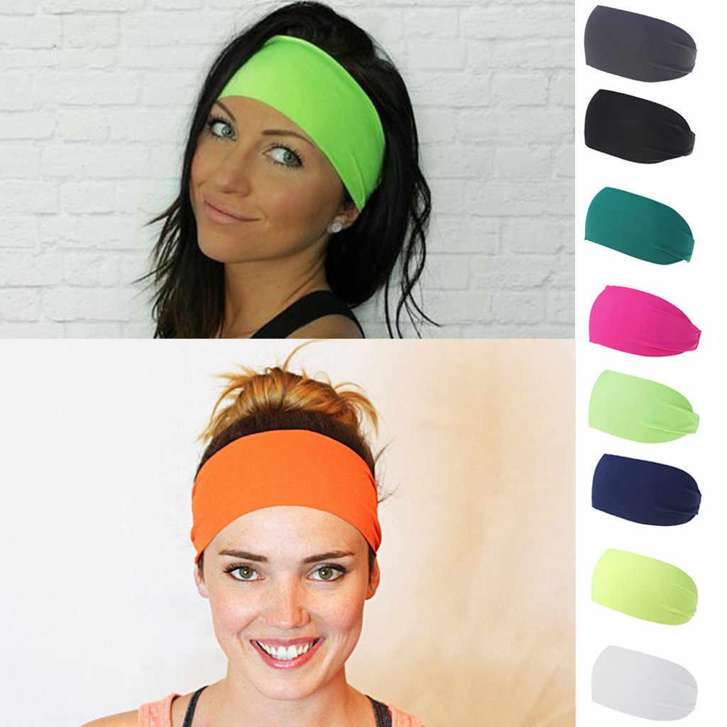 Women/'s Daily Wear Cotton Hippie Headband Ladies Elastic Hair band Yoga Gym