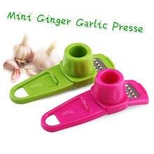 Mini gengibre alho presser vegetal frutas descascador alho imprensa cortador ralador plaina fácil de usar raladores de alho cozinha gadget