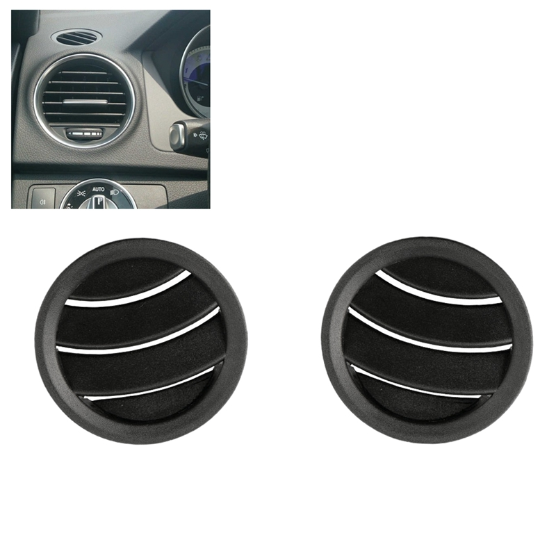 2Pcs Car Air Conditioning AC Instrument Panel Vents Cover Trim for Mercedes Benz W204 C300 C350 C63 2011 2012 2013 2014|Air-conditioning Installation| |  - title=