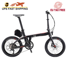 "Electric Bike Intelligent Smart Electric bike Pedelec bike 20 inch Adult folding eleictric bike with SHIMANO SORA 9 Speed ebike cheap SAVA 251 - 350w Lithium Battery 20"" 30km h Brushless Carbon Fibre 31 - 60 km One Seat Luxury Type"