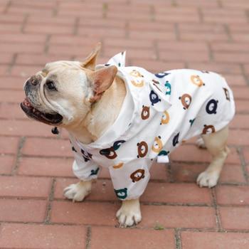 Ropa impermeable de verano para perros, ropa para mascotas, ropa transpirable para mascotas, ropa reflectante para cachorros, abrigo impermeable para perros
