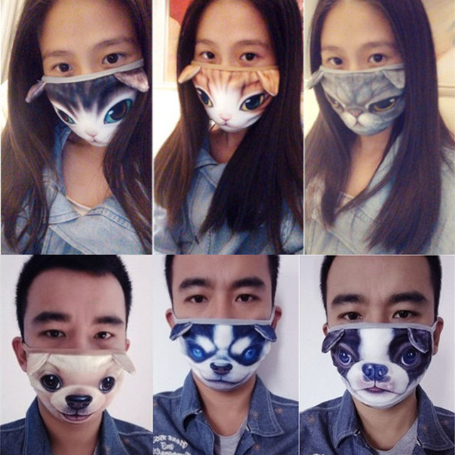 New Cute Cartoon Animal Funny Cat Dog Cotton Mouth Face Mask Anti Dust Masks For Korean Kpop Unisex Face Mouth Muffle Mask Anime 4